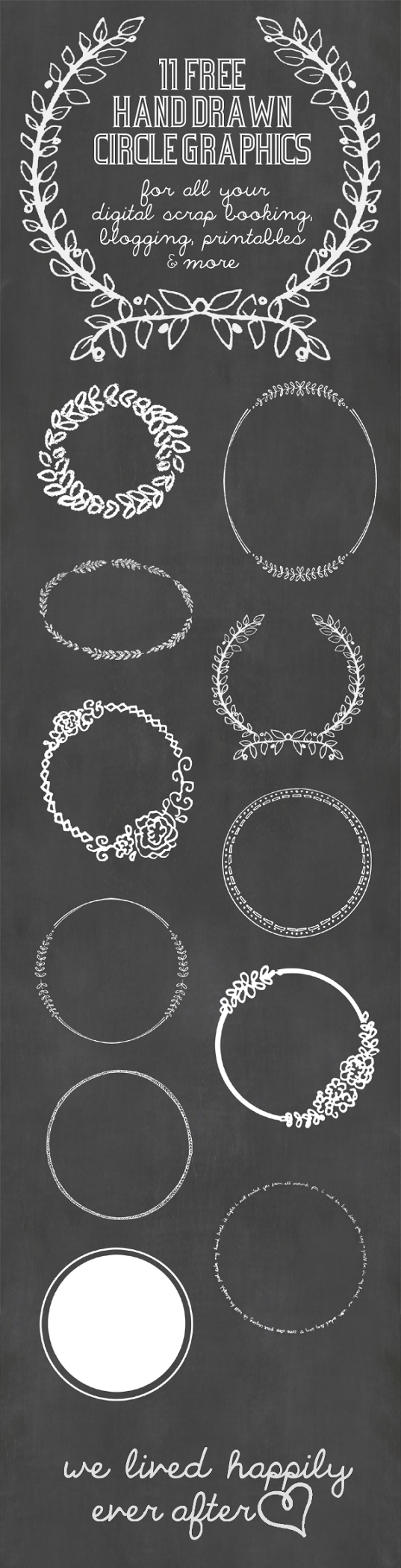 circle chalkboard printable digital images to download for personal use
