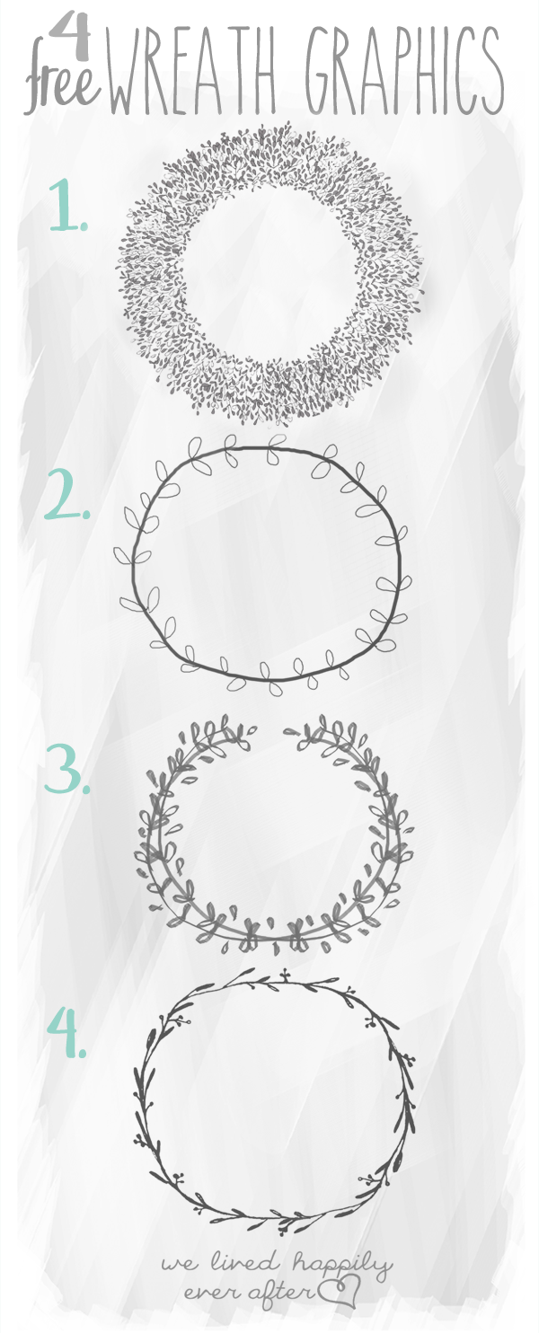 4 free wreaths graphics