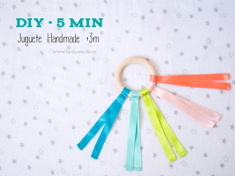 juguete handmade hecho con cintas y aro. Juguete Waldorf
