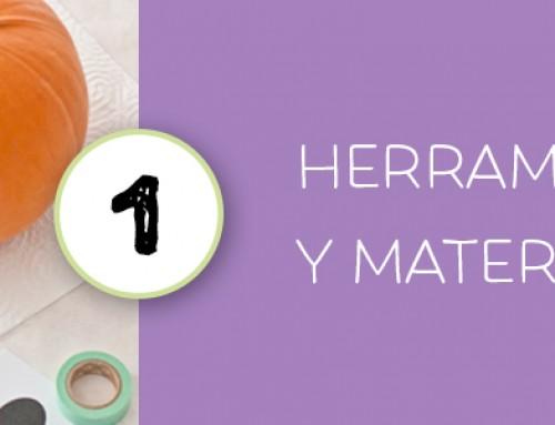 TALLADO CALABAZA HALLOWEEN 1 · HERRAMIENTAS Y MATERIALES