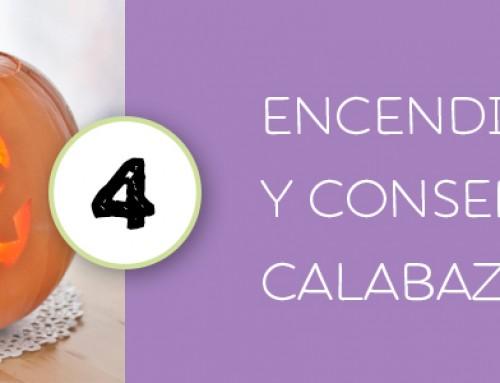 TALLADO CALABAZA HALLOWEEN 4 · ENCENDIDO Y CONSERVACIÓN CALABAZA